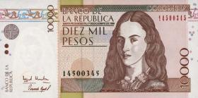 Kolumbien / Colombia P.443 10000 Pesos 17.12.1999 (1)