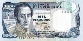 Kolumbien / Colombia P.432A 1000 Pesos Oro 1992 (1)