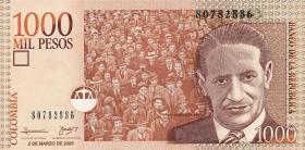 Kolumbien / Colombia P.456 1000 Pesos 1.11.2005 (1)