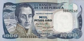 Kolumbien / Colombia P.424b 1000 Pesos Oro 1984 (1)