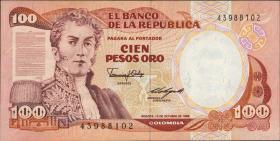 Kolumbien / Colombia P.426b 100 Pesos Oro 1985 (1)