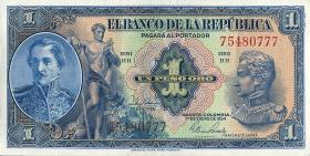 Kolumbien / Colombia P.380g 1 Peso Oro 1954 (1)