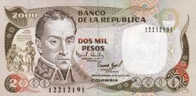 Kolumbien / Colombia P.439b 2000 Pesos 1994 (1)