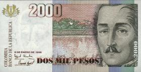Kolumbien / Colombia P.445c 2000 Pesos 6.1.1998 (1)