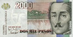 Kolumbien / Colombia P.445e 2000 Pesos 1999 (1)
