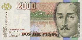 Kolumbien / Colombia P.445d 2000 Pesos 7.8.1998 (1)