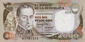 Kolumbien / Colombia P.433c 2000 Pesos 1990 (1)