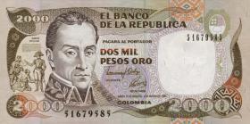 Kolumbien / Colombia P.433Aa 2000 Pesos 1992 (1)