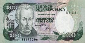 Kolumbien / Colombia P.429A 200 Pesos Oro 1992 (1)