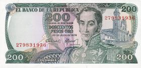 Kolumbien / Colombia P.419 200 Pesos Oro 1978-80 (1)