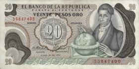 Kolumbien / Colombia P.409b 20 Pesos Oro 1974 (3)