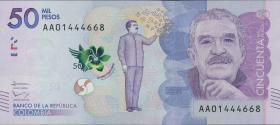 Kolumbien / Colombia P.neu 50000 Pesos 2015 (1)