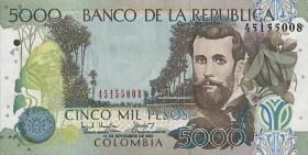 Kolumbien / Colombia P.452 5000 Pesos 2001-10 (1)