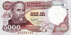 Kolumbien / Colombia P.435b 5000 Pesos 1988 (1)