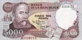 Kolumbien / Colombia P.440 5000 Pesos 1994 (1)