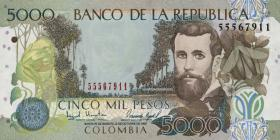 Kolumbien / Colombia P.447 5000 Pesos 1997-99 (1)
