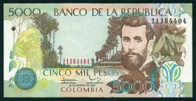 Kolumbien / Colombia P.452n 5000 Pesos 2012 (1)