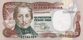 Kolumbien / Colombia P.431A 500 Pesos Oro 1992 (1)