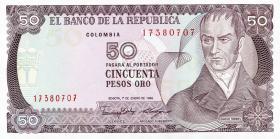 Kolumbien / Colombia P.425b 50 Pesos Oro 1986 (1)