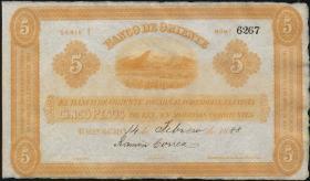 Kolumbien / Colombia P. S698 5 Pesos 1888 (1)