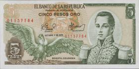 Kolumbien / Colombia P.406f 5 Pesos Oro 1978 (1)