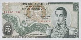 Kolumbien / Colombia P.406f 5 Pesos Oro 1980 (1)