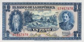 Kolumbien / Colombia P.398 1 Peso Oro 1953 (1)
