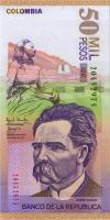 Kolumbien / Colombia P.455b 50000 Pesos 23.7.2001 (1)