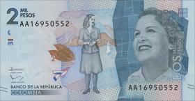 Kolumbien / Colombia P.neu 2000 Pesos 2015 (1)