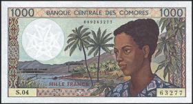 Komoren / Comoros P.11b 1000 Francs (1994) (1)