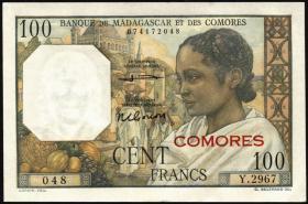 Komoren / Comoros P.03b 100 Francs (1960-63) (1)