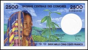 Komoren / Comoros P.13 2500 Francs (1997) (1)