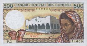 Komoren / Comoros P.10a 500 Francs (1986) (1)