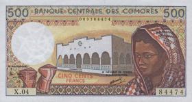 Komoren / Comoros P.10b 500 Francs (1994) (1)