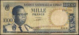 Kongo / Congo P.008 1000 Francs 1961 (4)