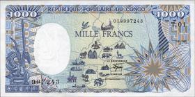 Kongo / Congo Volksrepublik P.09 1000 Francs 1985 (1)