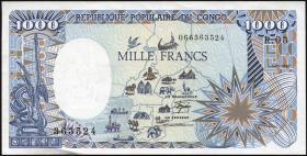 Kongo / Congo Volksrepublik P.10a 1000 Francs 1987 (1/1-)