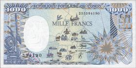 Kongo / Congo Volksrepublik P.10b 1000 Francs 1990 (1)