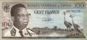 Kongo / Congo P.006 100 Francs 1962 (3)