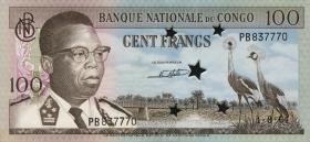 Kongo / Congo P.006 100 Francs 1964 (entwertet) (1/1-)