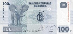 Kongo / Congo P.098 100 Francs 2007 (1)