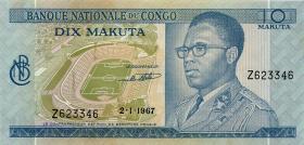 Kongo / Congo P.009a 10 Makuta 1967 (1)
