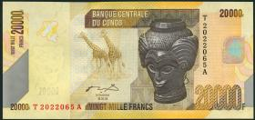 Kongo / Congo P.104a 20000 Francs 2006 (2013) (1)
