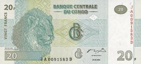 Kongo / Congo P.094A 20 Francs 2003 (1)