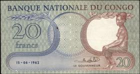 Kongo / Congo P.004a 20 Francs 1962 (3)