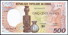 Kongo / Congo Volksrepublik P.08a 500 Francs 1985 (1)