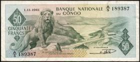 Kongo / Congo P.005 50 Francs 1961 (3)
