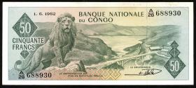 Kongo / Congo P.005 50 Francs 1962 (2)