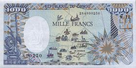Kongo / Congo Volksrepublik P.11 1000 Francs 1992 (1)