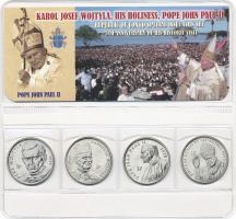 Kongo 4 x 1 Franc 2004 Papst